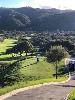 Jeff tees off at Pasadera Country Club, Carmel