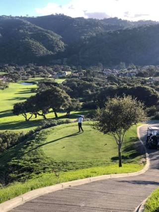 Jeff tees off at Pasadera Country Club, Carmel